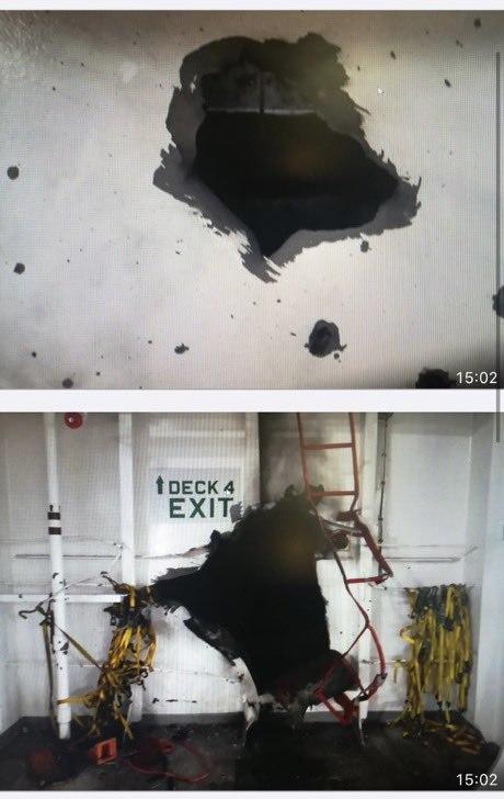 حمله به کشتی اسرائیلی به دریای عمان (+عکس)