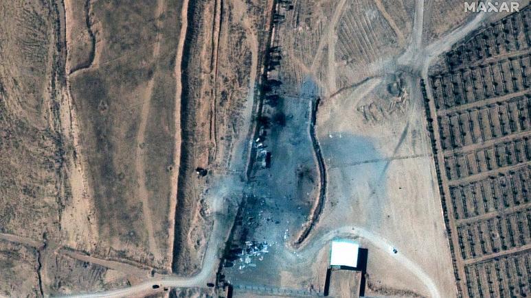 تصاویر ماهوارهای از حمله آمریکا به سوریه