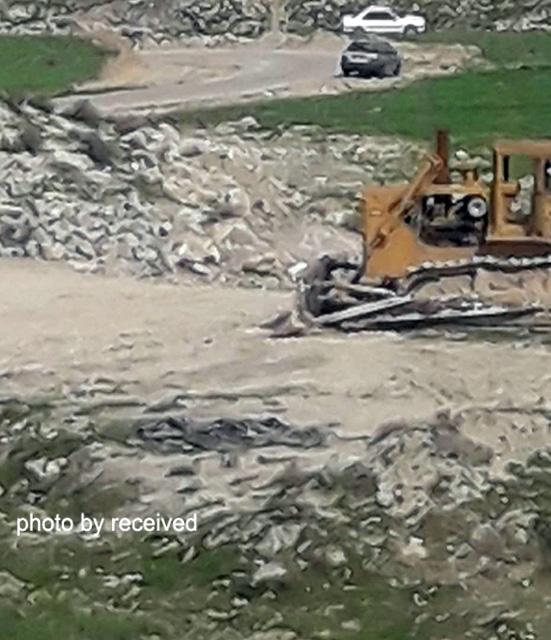تخریب تپههای محوطه تاریخی