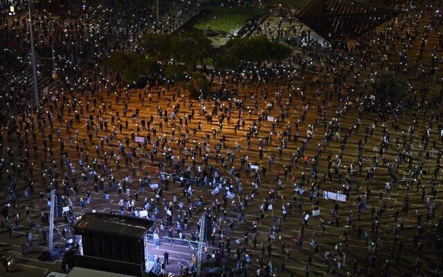 تظاهرات در اسرائیل کرونا