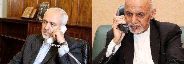 گفتوگوی تلفنی ظریف با اشرف غنی و عبدالله عبدالله