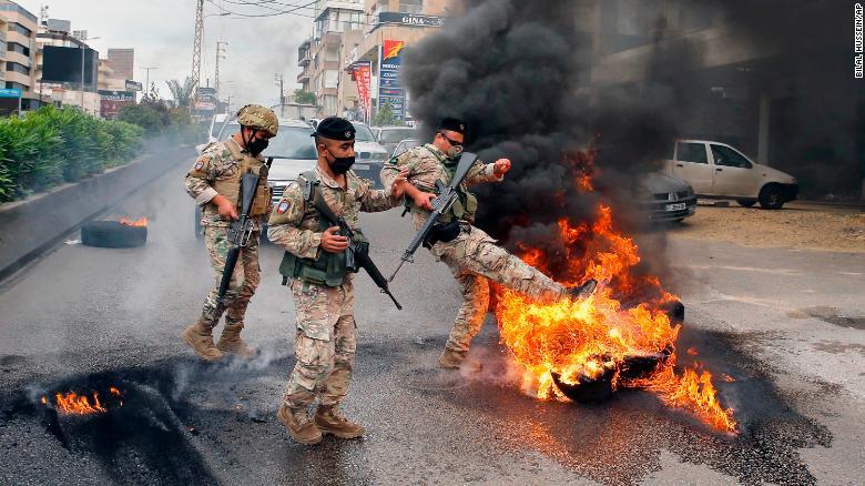 تظاهرات خیابانی لبنان