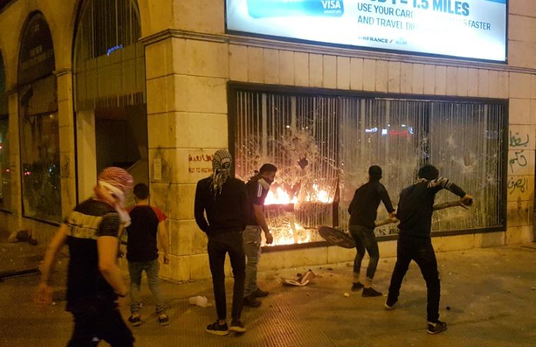 لبنان خیابان تظاهرات