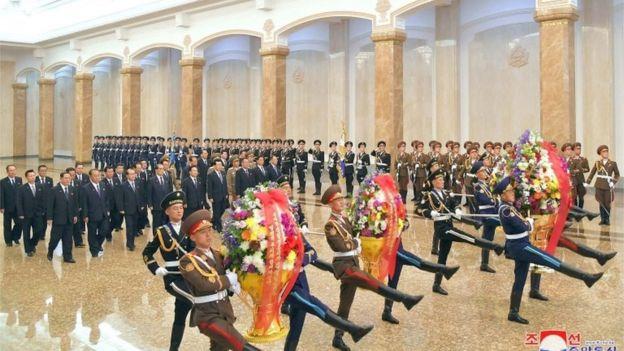 مراسم بزرگداشت پدربزرگ کیم جونگ اون 2020
