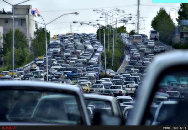 ترافیک سنگین در ۸ بزرگراه تهران