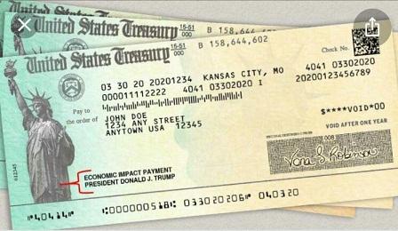 چکهای یارانه کرونا در آمریکا