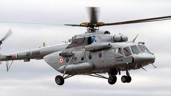 سقوط یک بالگرد نیروی هوایی ارتش هند