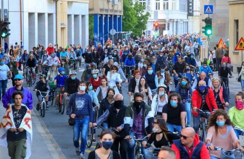 تظاهرات در اسلوونی