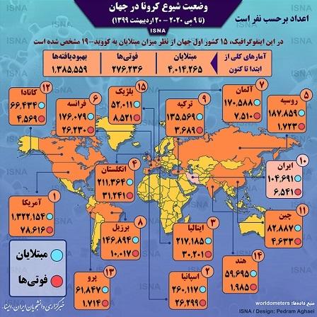آمار کرونا در جهان تا ۲۰ اردیبهشت (اینفوگرافیک)