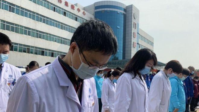 سوگواری کادر درمان چین