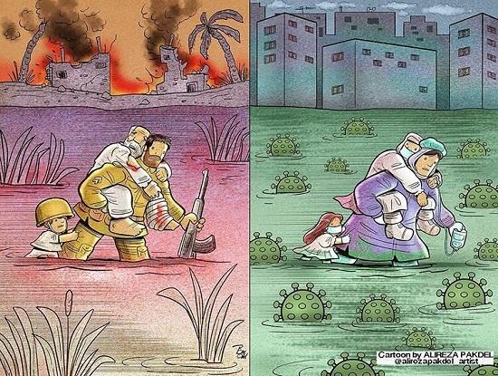 دو تصویر ماندگار از قهرمانان دیروز و امروز ایران!