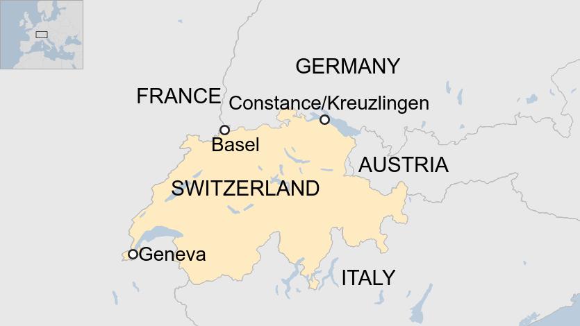 منطقه مرزی سوئیس آلمان اتریش