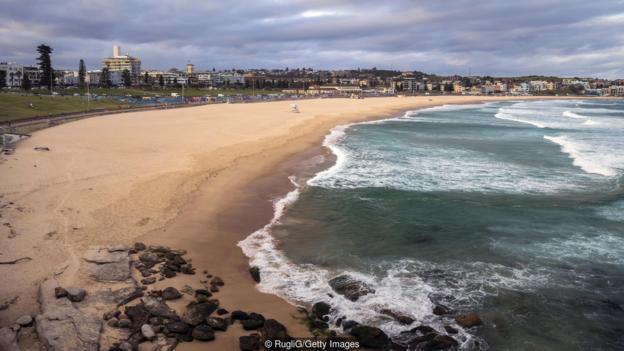 ساحل استرالیا تعطیل کرونا