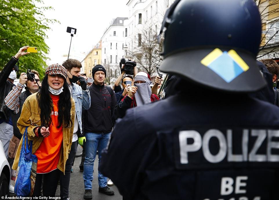 تظاهرات علیه قرنطینه برلین