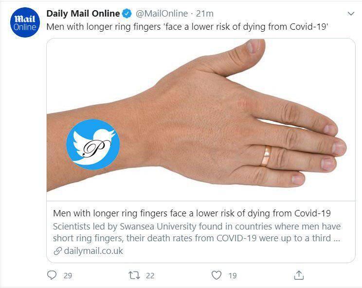 مردان با انگشت حلقه بلند کرونا نمیگیرند؟