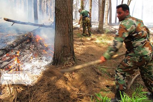 آتش سوزی سیاهبیشه مازندران