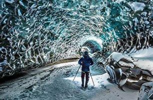 غار یخی ایسلند (عکس)
