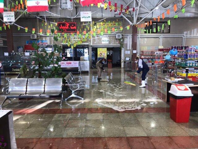 عملیات ضد عفونی ۲۴۵ میدان و بازار میوه و تره بار در تهران