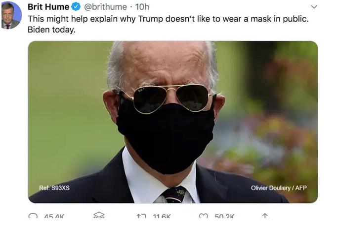 ترامپ ماسک زدن
