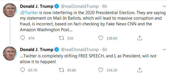 توییتر از ترامپ