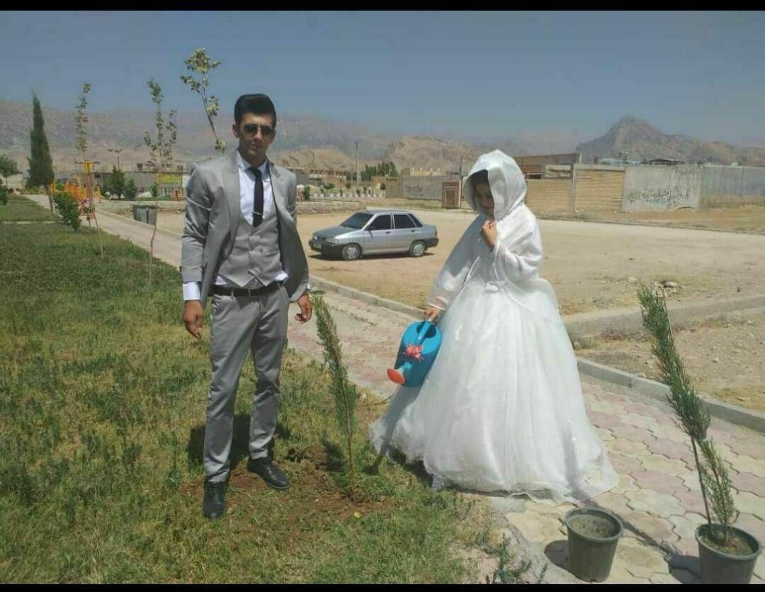 کاشت نهال بهجای جشن عروسی در شرایط کرونایی (+عکس)