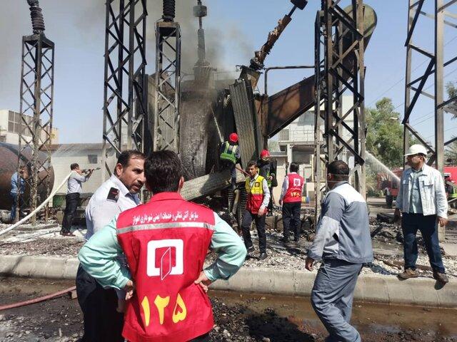 آتشسوزی نیروگاه زرگان اهواز تلفات نداشت (+ عکس)