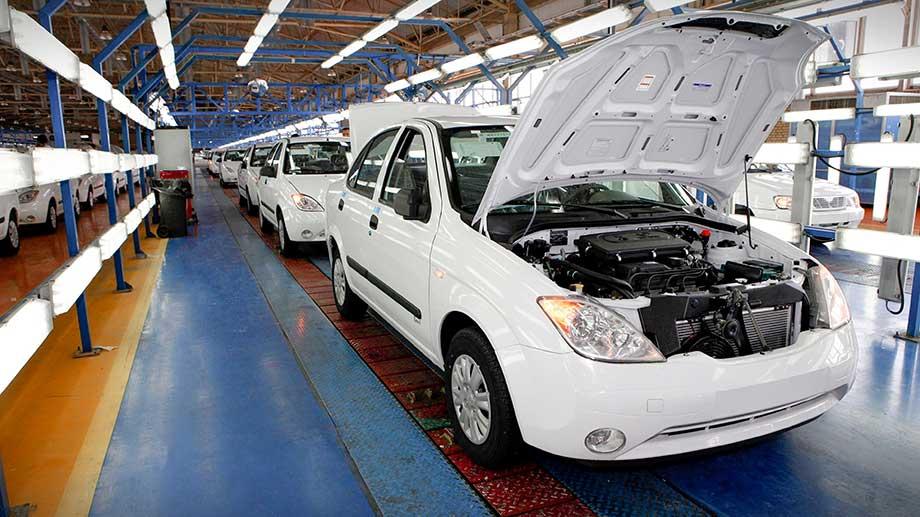 سایپا بیشترین تیراژ تولید خودرو کشور