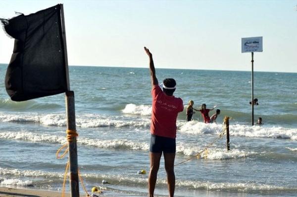 مازندران/ تعطیلی طرح دریا در سواحل بهشهر و نوشهر