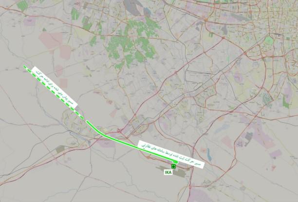نقشه اصابت موشک به هواپیمای اوکراینی