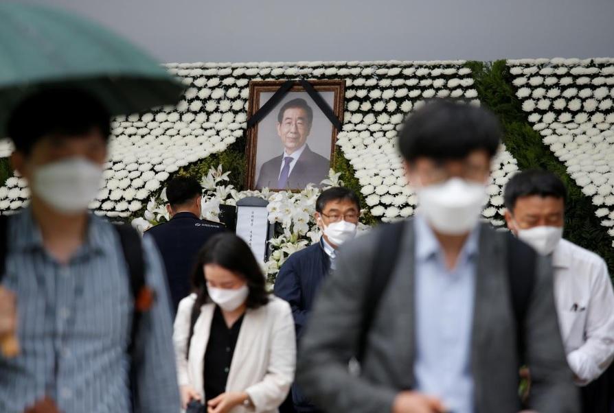 در میان اتهامات سوء استفاده جنسی؛ مراسم تشیع جنازه شهردار سئول برگزار شد