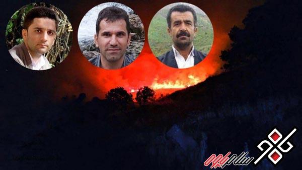 تشییع پیکر جانباختگان آتش سوزی بوزین و مره خیل پاوه در میان حزن و اندوه مردم (+عکس)
