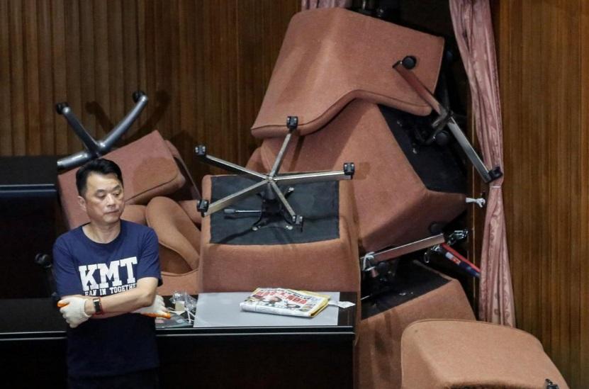 پارلمان تایوان در اشغال حزب مخالف