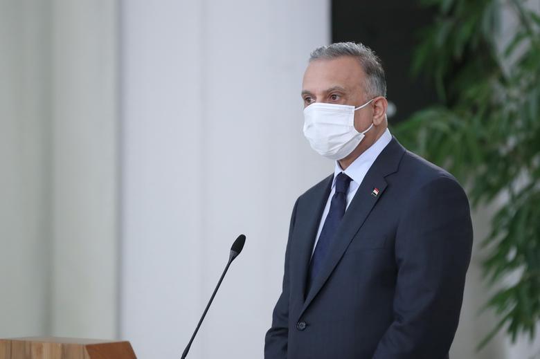 نخست وزیر عراق با ماسک