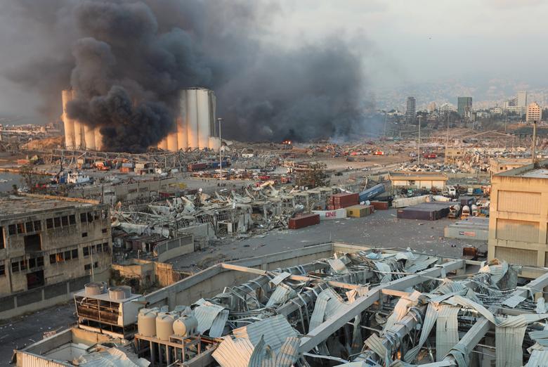 دود انفجار بیروت