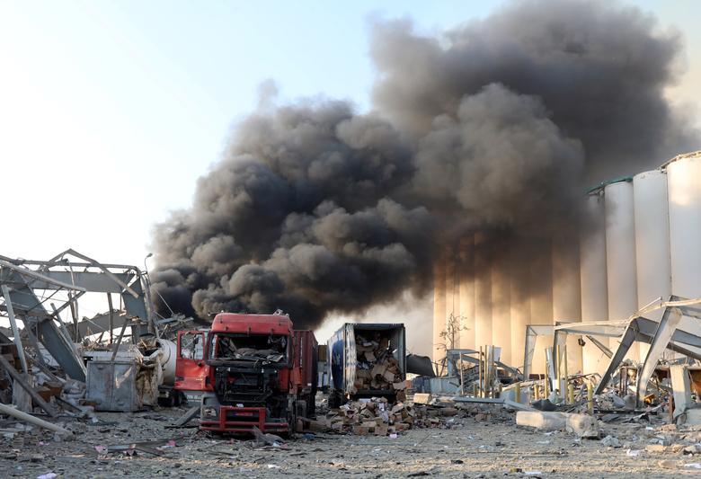انفجار مهیب لبنان