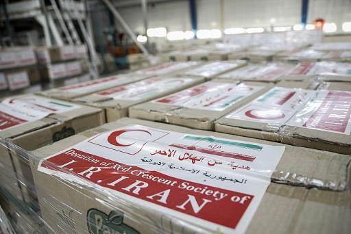 ارسال دارو، بسته غذایی و ملزومات پزشکی هلالاحمر ایران به لبنان