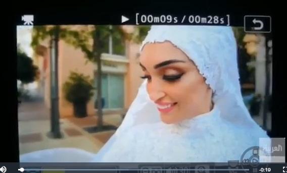 عروس مشهور انفجار لبنان