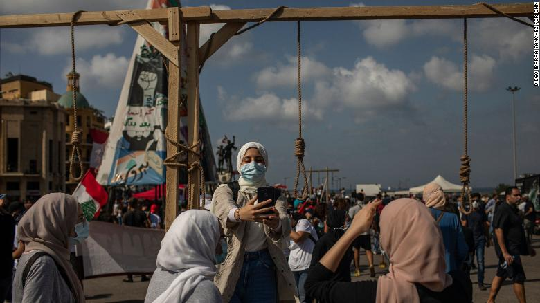 اعتراضات لبنان لنفجار بیروت