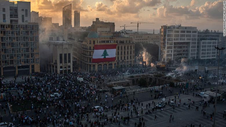 اعتراضات پس از انفجار در لبنان