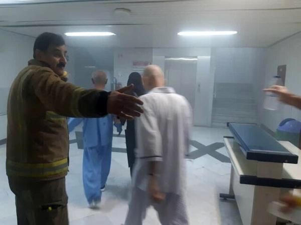 آتش سوزی در یک مرکز درمانی در خیابان حافظ