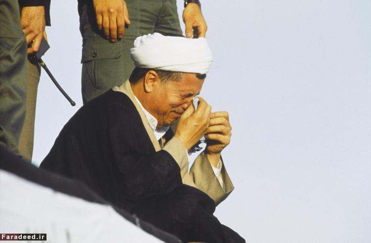 رفسنجانی در مراسم تشیع امام