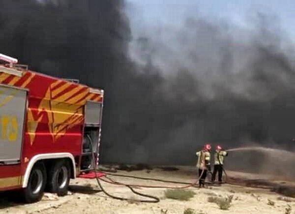 2 کشته در حادثه آتشسوزی تانکر حامل سوخت در منطقه آزاد چابهار