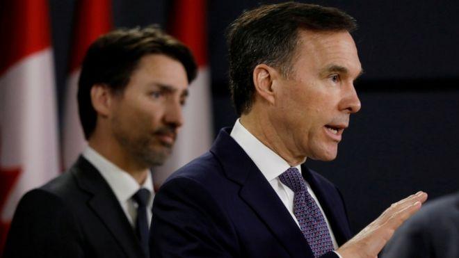 استعفای وزیر دارایی کانادا