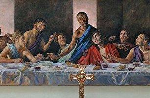 تصویر بحثبرلنگیز از مسیح (ع) در یک کلیسای قدیمی
