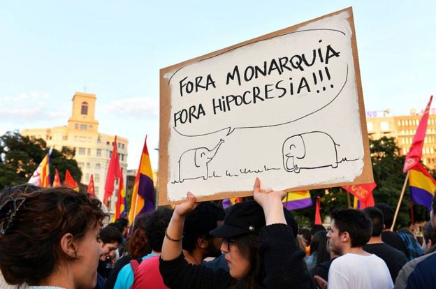 اعتراضات اسپانیا علیه خوان کارلوس پادشاه