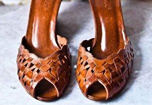 مدل کفش مجلسی قهوه ای (عکس)
