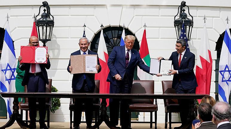 امضای توافق عادی سازی روابط اسرائیل با بحرین و امارات (+عکس)