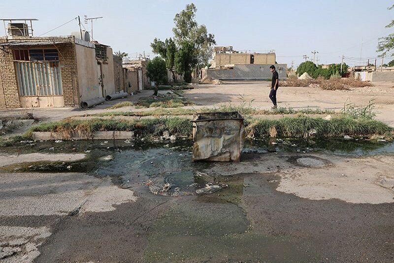 سرریز فاضلاب خانگی به کوچه و خیابانهای آبادان/480 کیلومتر فاظلاب بازساری میخواهد