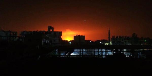 انفجار خط لوله اصلی گاز سوریه در دمشق