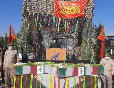 تشییع ۲ شهید دوران دفاع مقدس در شیراز